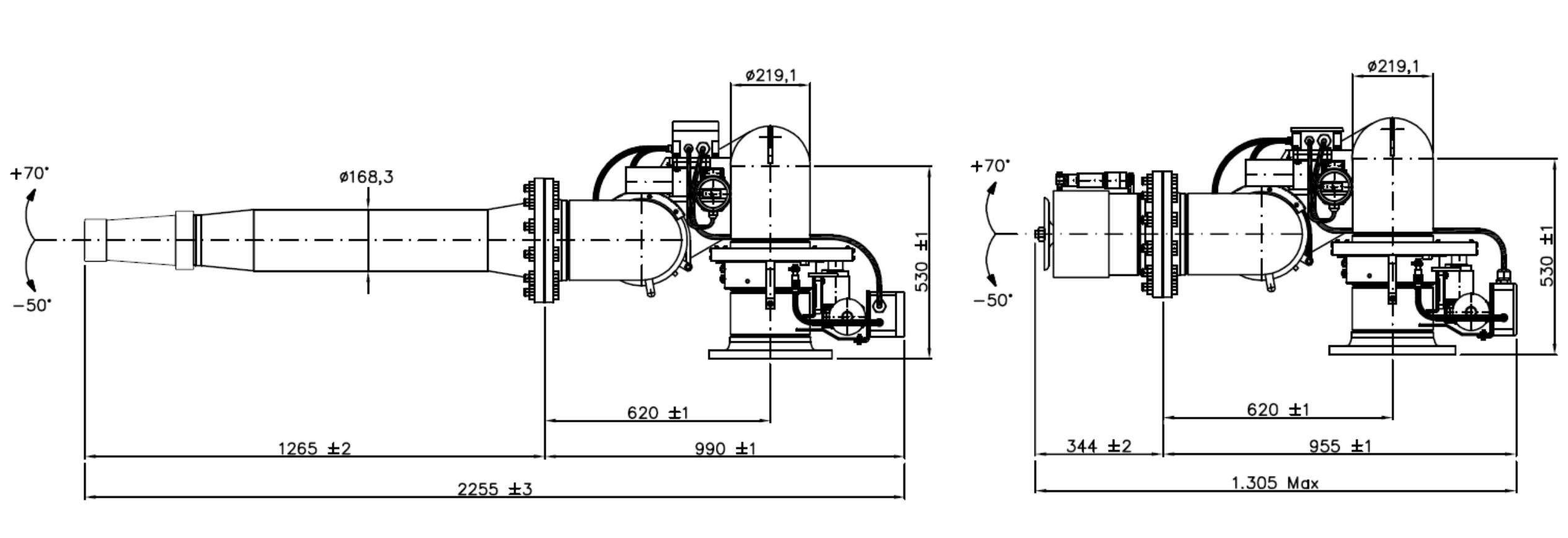 Technische specificatie FiFi Blusmonitor