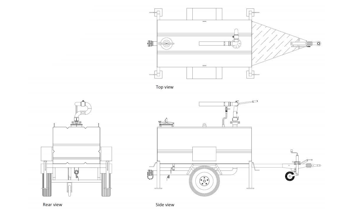 Technische specificatie Blusmonitor trailer