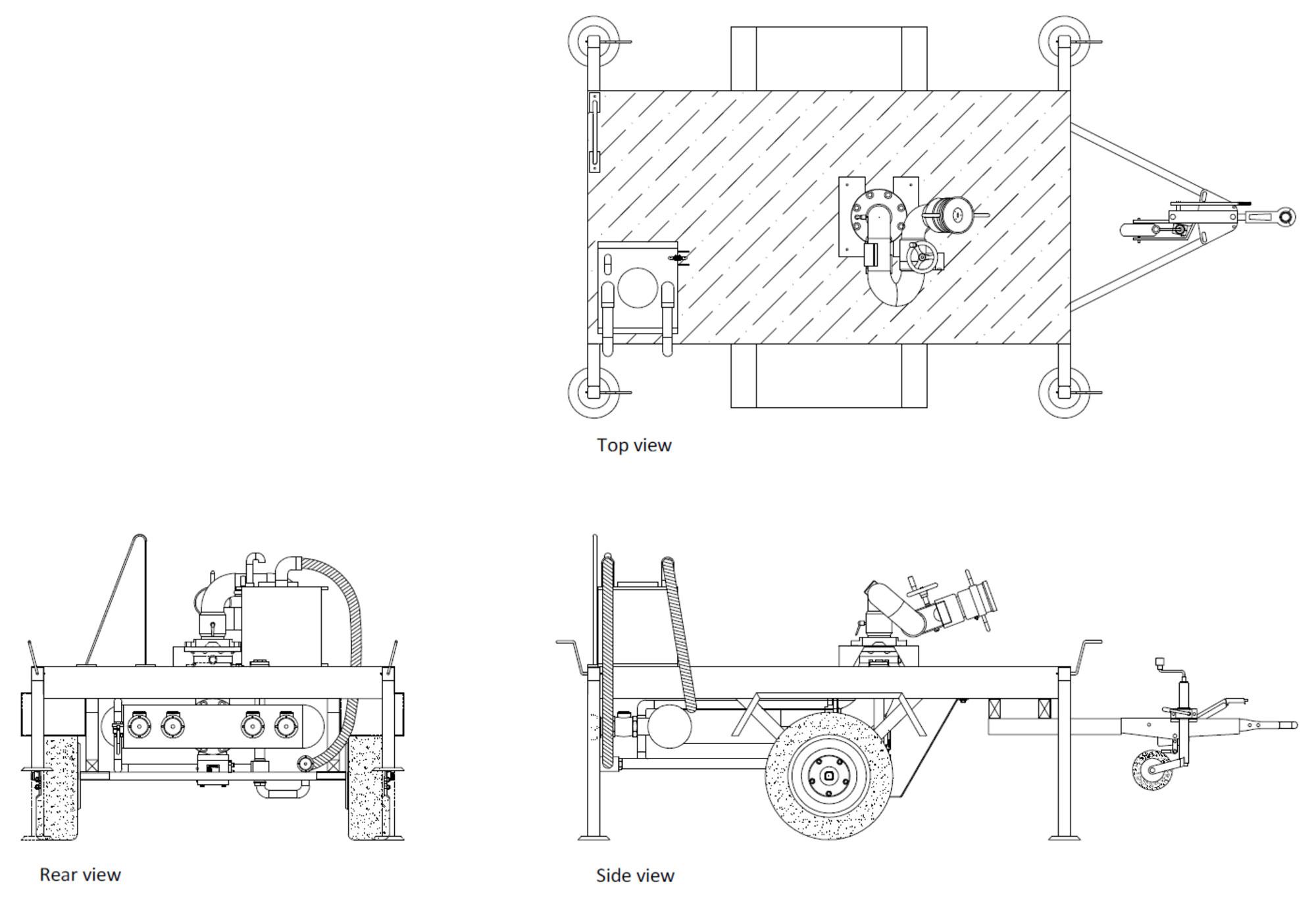 Technische specificatie trailer Blusmonitor type 2