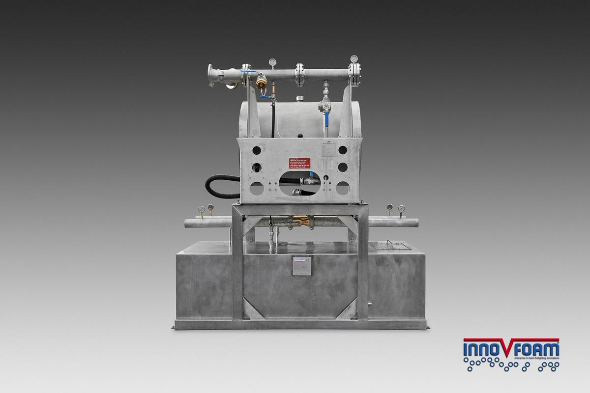 Afname schuimblussysteem voor offshore helideck