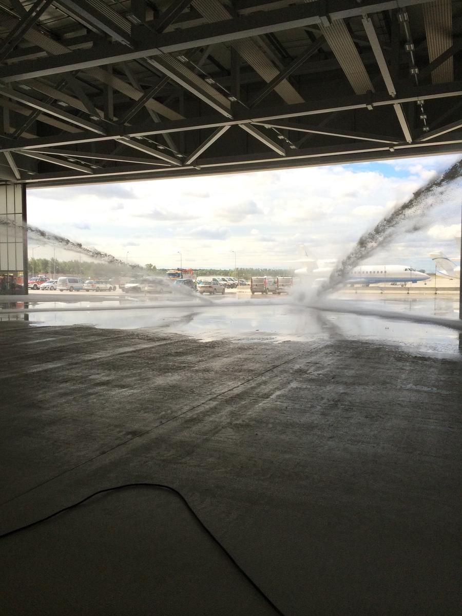 Geslaagde oplevering blussysteem vliegtuighangar te Wenen