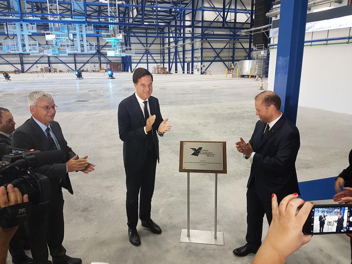 Officiële opening nieuw hangarcomplex Malta