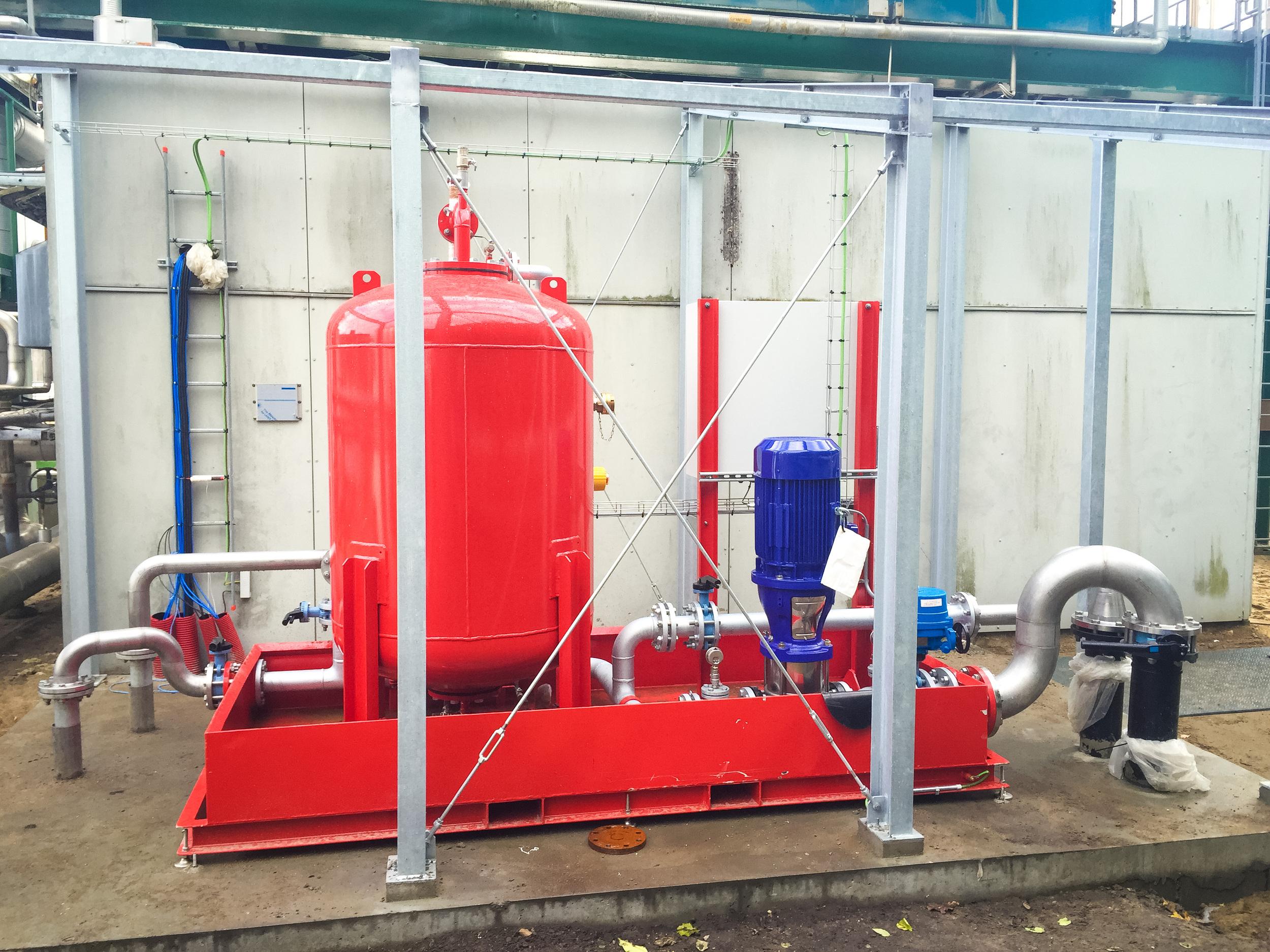 Bundbeveiliging met middelschuimgeneratoren
