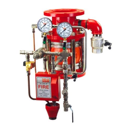 Deluge valve pressure
