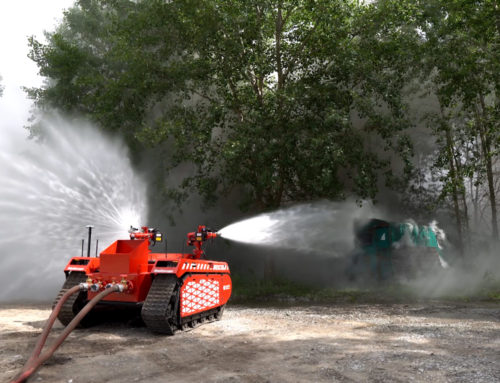 InnoVfoam News: Extinguishing robot in action and the value of our new tank trailer